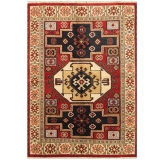 Handmade One-of-a-Kind Kazak Wool Rug (India) - 4'3 x 6'