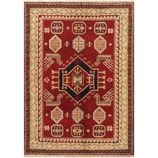 Handmade One-of-a-Kind Kazak Wool Rug (India) - 4'8 x 6'7