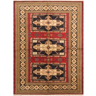 Handmade One-of-a-Kind Kazak Wool Rug (India) - 5'8 x 7'9