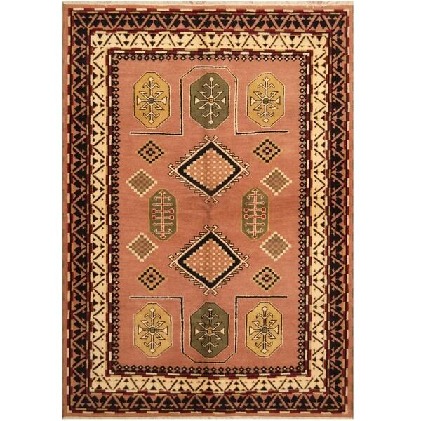Handmade One-of-a-Kind Kazak Wool Rug (India) - 6'7 x 9'5