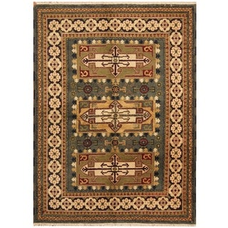 Handmade One-of-a-Kind Kazak Wool Rug (India) - 4'10 x 6'5