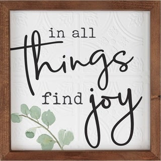 In All Things Find Joy Framed Art