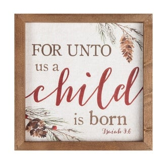 For Unto Us A Child Is Born Framed Art