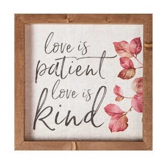 Love Is Patient Love Is Kind Framed Art
