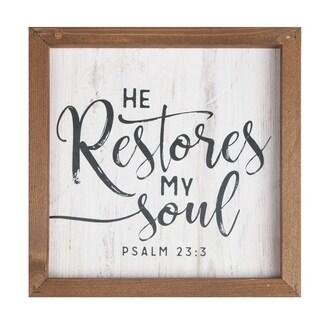 He Restores My Soul Framed Art