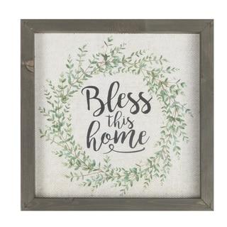 Bless This Home Framed Art - N/A