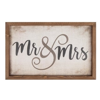 Mr. & Mrs. Framed Art