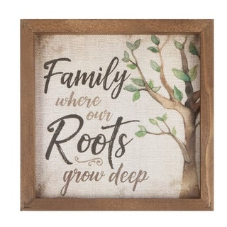 Family Where Our Roots Grow Deep Framed Art