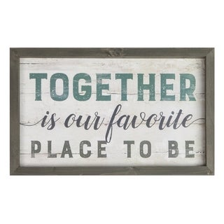 Together Is Our Favorite Place To Be Framed Art - N/A