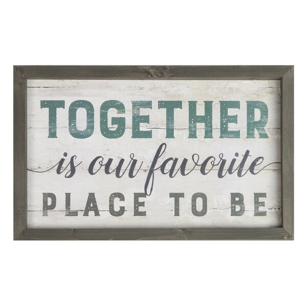Together Is Our Favorite Place To Be Framed Art