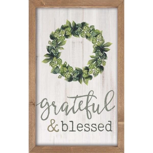 Grateful And Blessed Framed Art