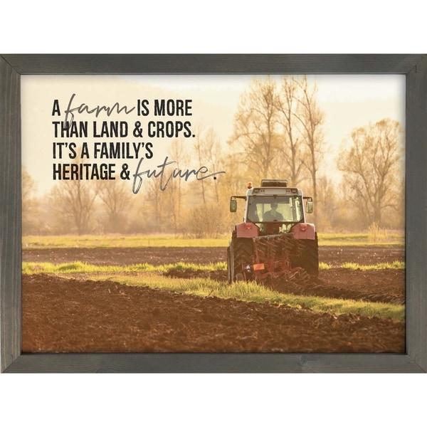 A Farm Is More Than Land & Crops Framed Art