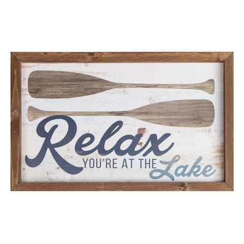 Relax You're At The Lake Framed Art