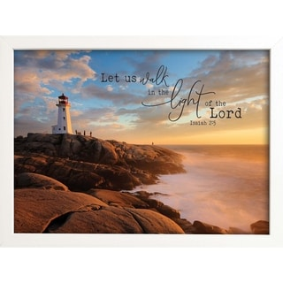 Let Us Walk In The Light Of The Lord Framed Art