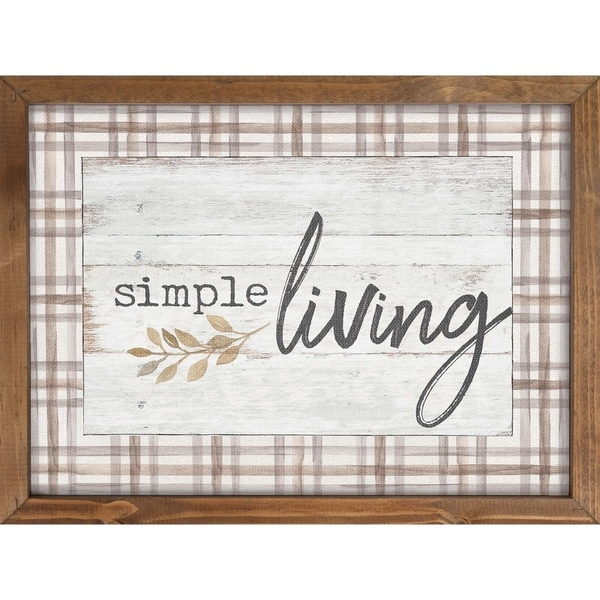 Simple Living Framed Art