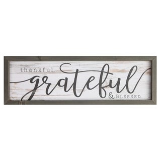 Thankful, Grateful, Blessed Framed Art
