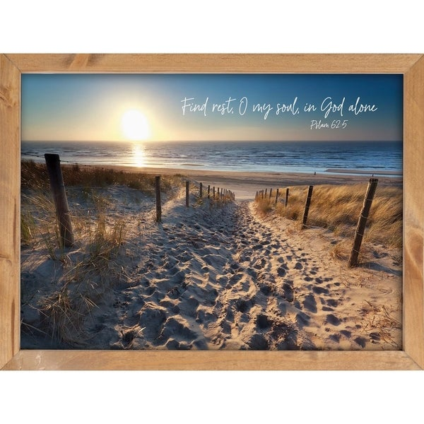 Find Rest, O My Should, In God Alone Framed Art - N/A