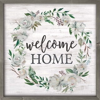 Welcome Home Framed Art - N/A