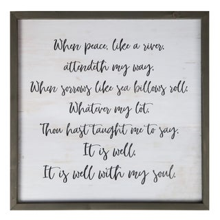 It Is Well With My Soul Framed Art - N/A
