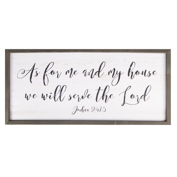 As For Me & My House We Will Serve The Lord Framed Art