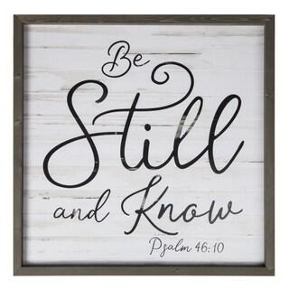 Be Still And Know Framed Art