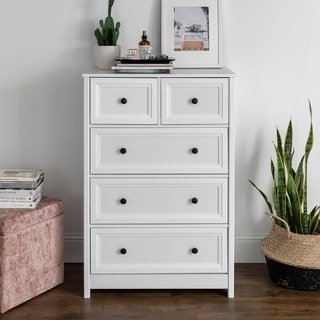 Porch & Den 5-Drawer Chest with Groove Side Detail