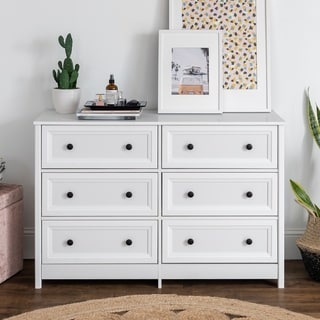 Porch & Den 6-Drawer Dresser with Groove Side Detail