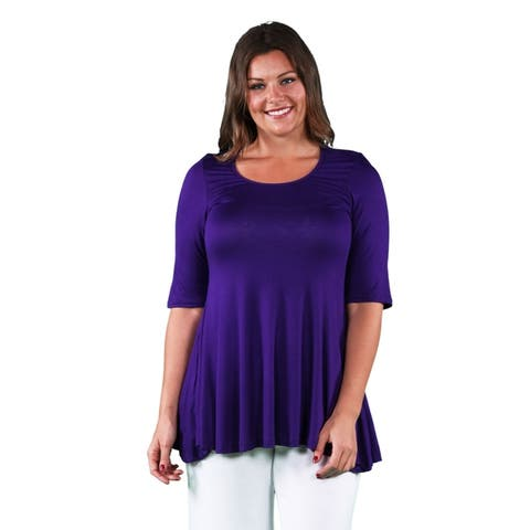bc5424d27f947c Buy Purple Women's Plus-Size Tops Online at Overstock | Our Best ...