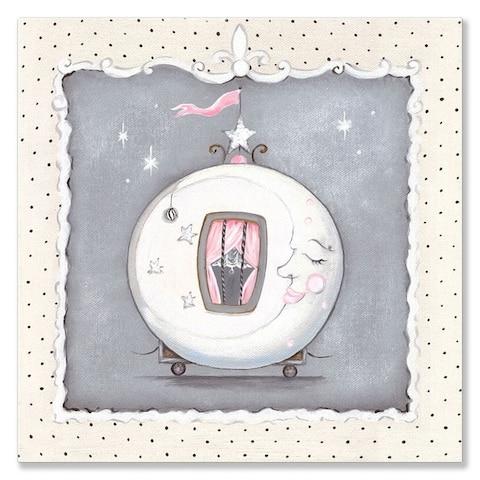 Oopsy Daisy 'La Belle Cirque Coach - Moon' by Kris Langenberg - 10 x 10