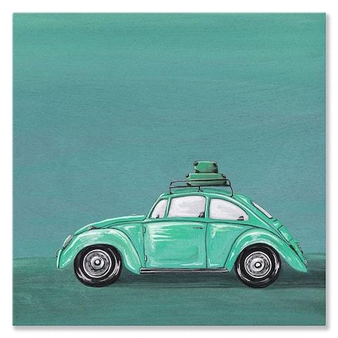 GreenBox 'Road Trip' by Karin Grow Canvas Wall Art - 14 x 14