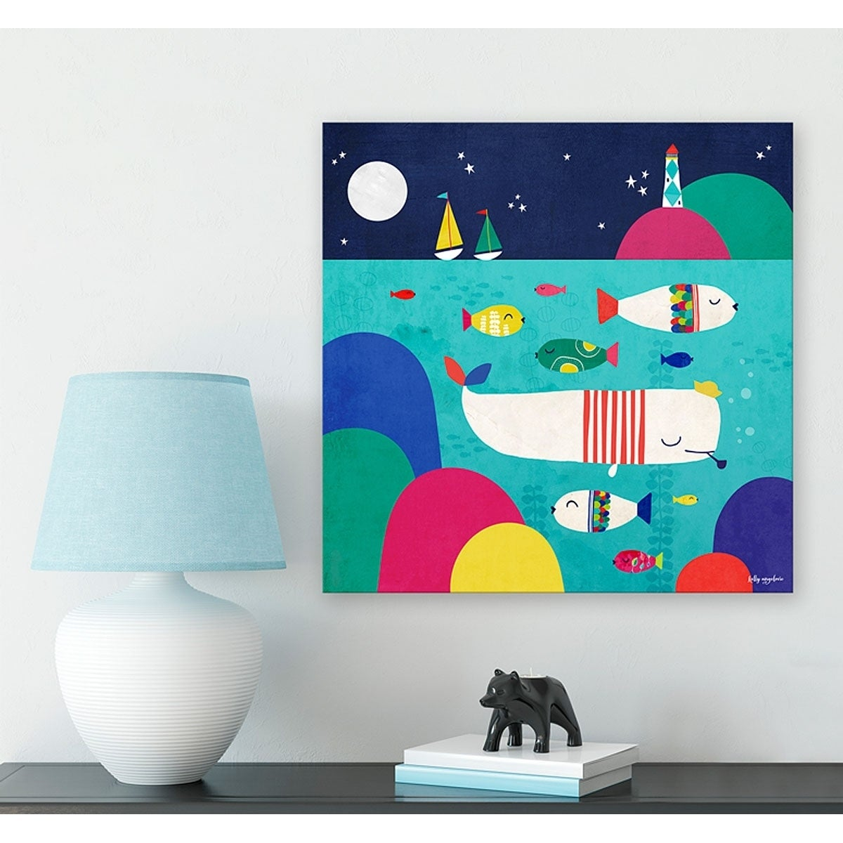 Oopsy Daisy The Magical Sea By Kelly Angelovic Canvas Wall Art 14 X 14 Overstock 27996233