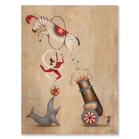 Oopsy Daisy 'Vintage Circus Cannon' by Sarah Lowe Canvas Wall Art - 10 x 14