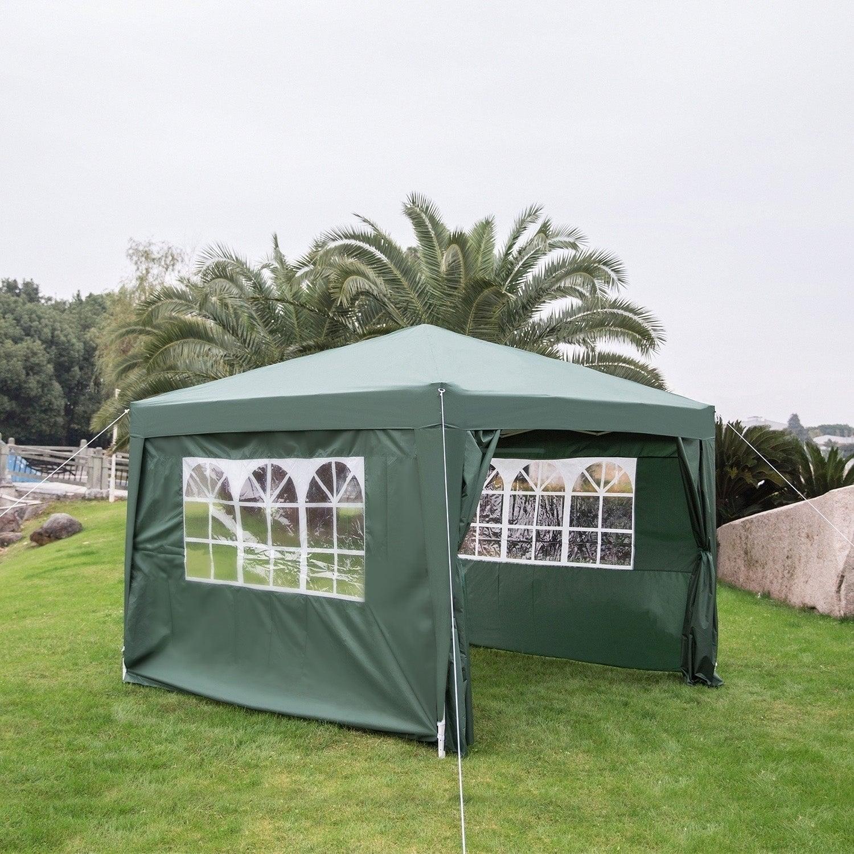 newest 8b635 6199c Kinbor 10' x 10' Wedding Party Tent Patio Canopy Tent Outdoor Gazebo Canopy  Patio Pavilion w/ 4 Removable Sidewalls
