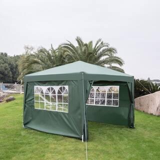Kinbor 10' x 10' Wedding Party Tent Patio Canopy Tent Outdoor Gazebo Canopy Patio Pavilion w/ 4 Removable Sidewalls