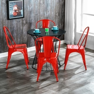Link to Industrial Style Iron Patio Dining Chairs Stacking Chair (Set of 4) Similar Items in Dining Room & Bar Furniture