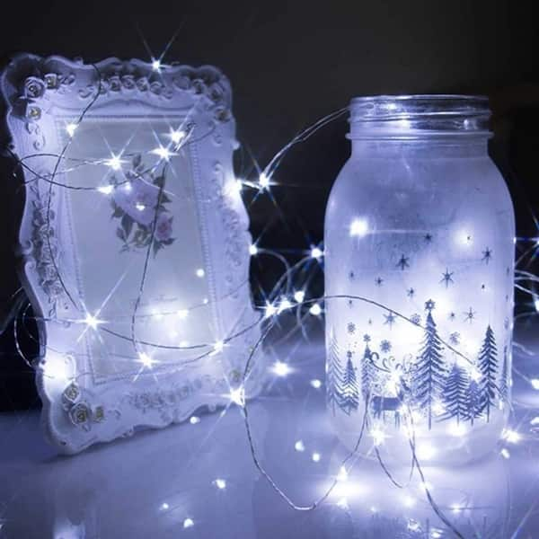 Shop 10m String Lights 100leds Usb Charging Waterproof Copper Wire Fairy Lights For Bedroom Wedding Festival Decor White Warm White On Sale Overstock 28000622