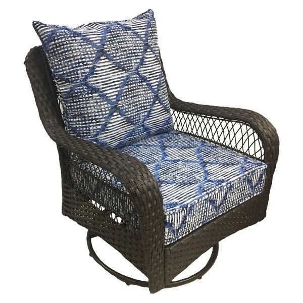 Outdoor Ikat 2 Pc Deep Seat Cushion Set