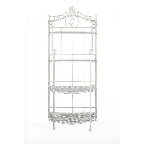 Copper Grove Aschersleben 4-shelf Metal Baker's Rack