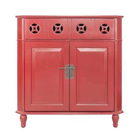 Asia 1-Drawer, 2-Door Corner Cabinet