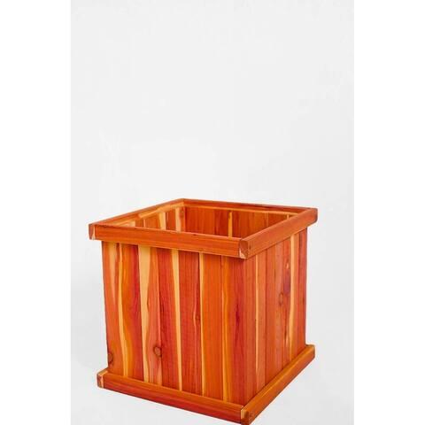 "Aromatic Eastern Red Cedar Square Planter Box, 16""X16""X16"""