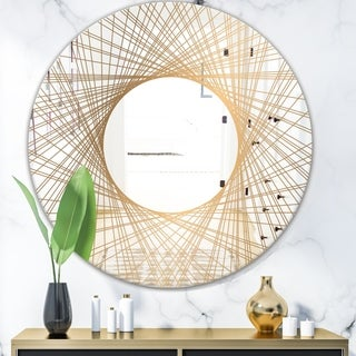 Designart 'Capital Gold Essential 6' Glam Accent or Vanity Mirror - Oval or Round Vanity Mirror