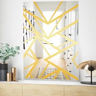 Design Artdesignart Efflorescent Gold Green 1 Glam Mirror Wall Mirror 29 5 In Wide X 47 4 In High Dailymail