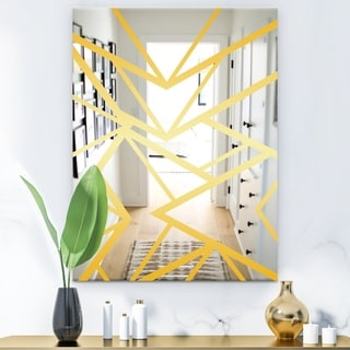 Designart 'Capital Gold Essential 27' Glam Mirror - Decorative Wall Mirror