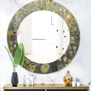 Porch & Den 'Rain Abstract V' Modern Bathroom Mirror - Grey