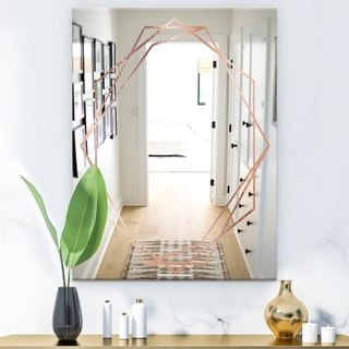 Silver Orchid Bouton 'Copper Minimal 8' Glam Mirror - Gold