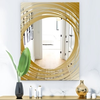 Designart 'Capital Gold Essential 25' Glam Mirror - Decorative or Bathroom Mirror