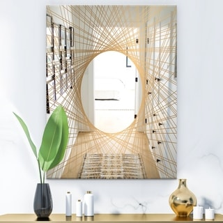 Designart 'Capital Gold Essential 6' Glam Mirror - Modern Wall Mirror