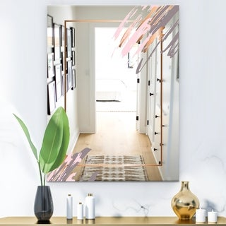 Designart 'Copper Minimal 1' Glam Bathroom Mirror - Modern Vanity Mirror - Gold