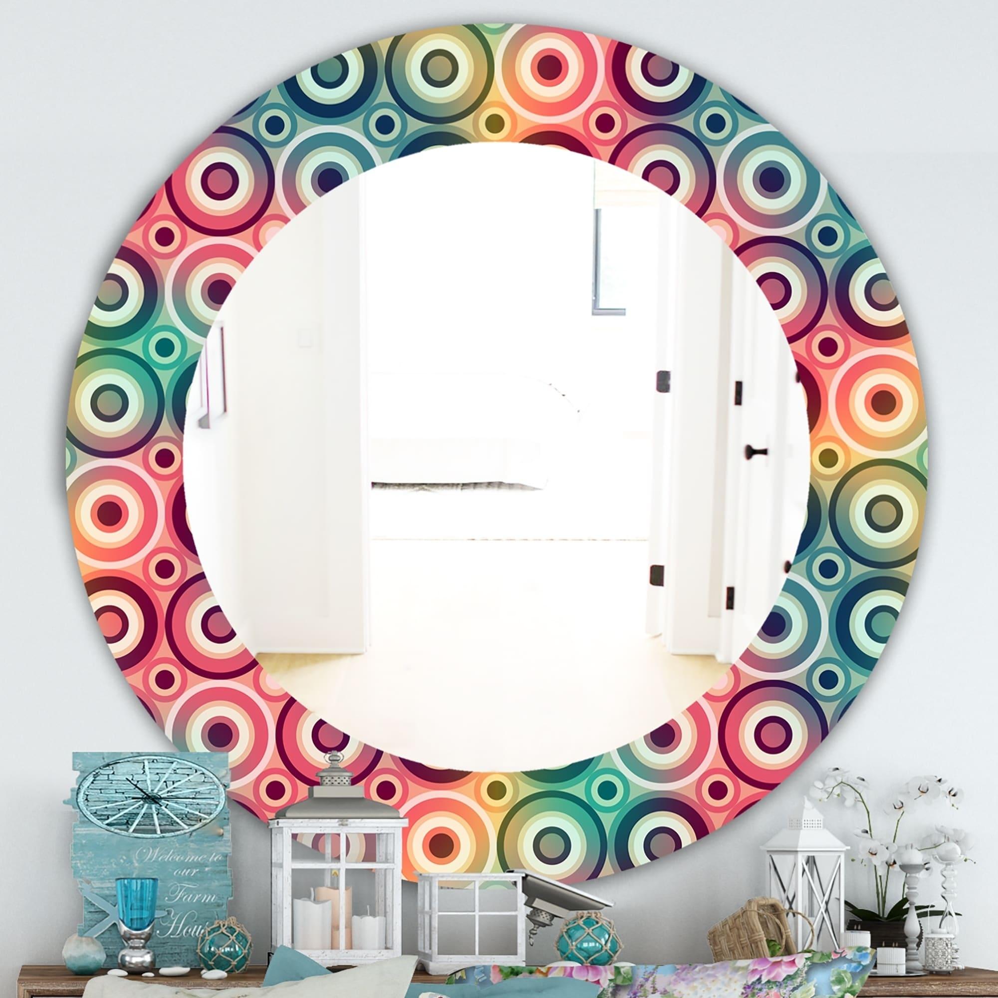 Shop Designart Circular Dance 8 Modern Bathroom Mirror Frameless Contemporary Oval Or Round Wall Mirror On Sale Overstock 28001085