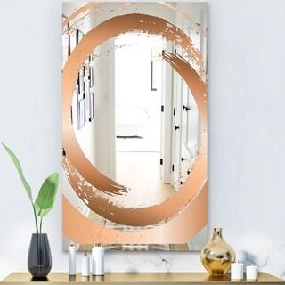 Designart 'Copper Minimal 4' Glam Mirror - Modern Vanity Mirror - Gold